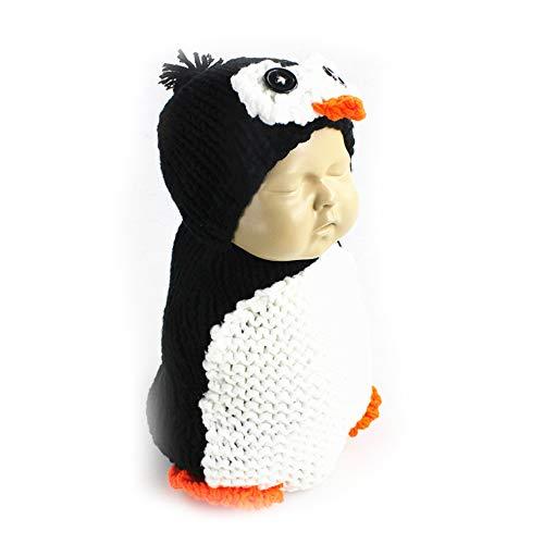 Kostüm Pinguin Niedlichen - NROCF Pinguin Set Neugeborenen Fotografie Requisiten häkeln, niedlichen Cartoon Baby Schlafsack, Halloween-Kostüm