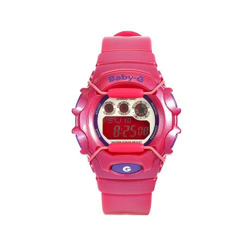 CASIO Baby-G BG-1006SA-4AER - Reloj de mujer de cuarzo, correa de resina color rosa (con alarma, luz, cronómetro)