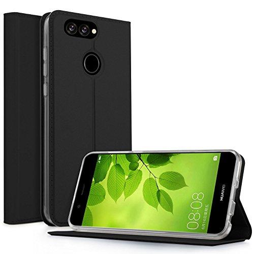 Coque iPhone 8 Plus, KuGi iPhone 8 Plus Flip Coque Premium PU Housse [Protection Complète] Couverture Multicolor avec support design pour Apple iPhone 8 Plus (Bleu) Noir