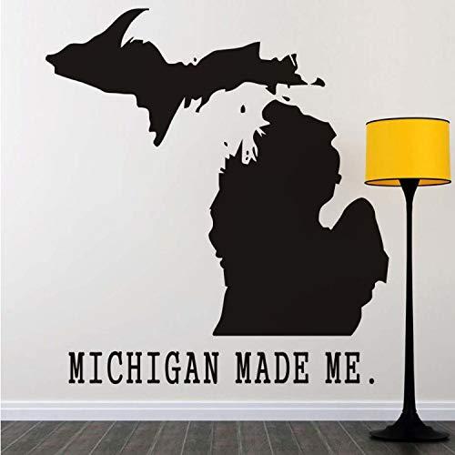 liuweideshoop Michigan Machte Mich Wandaufkleber Abnehmbare Vinyl Karte Wandtattoo Für Wohnzimmer DIY Heimtextilien Zubehör -