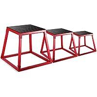 "Autovictoria PlyoBox Set Plyometric Box Ejercicio 12 ""Plyometric Platform Jump Box Ejercicio 18"" Plyometric Jump Boxes 24 ""Caja de Fitness Set para Entrenamiento de Salto (Set of 12 , 14 , 24)"