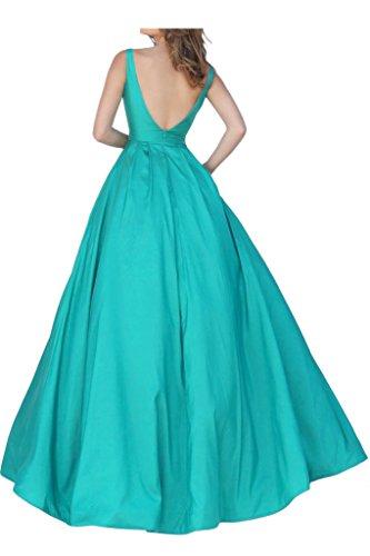 Promgirl House Damen 2016 Schick Satin Prinzessin Traeger A-Linie Ballkleider Fest Abendkleider Lang Orange