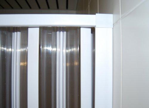 Duschabtrennung kunststoff  Duschwand VARIABLE BREITE 25-80 cm Duschabtrennung Faltwand ...