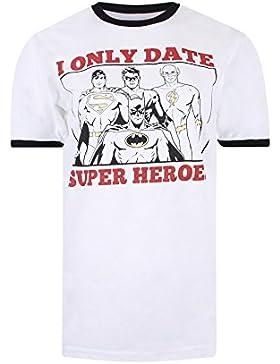 DC Comics Only Date Superheroes, Camiseta para Mujer