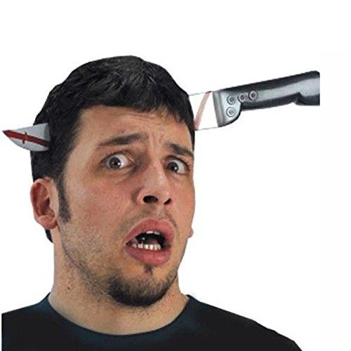LAEMILIA Haarreif Axt im Kopf blutige Haarbügel Kopfschmuck Kopfbedeckung Zubehör für Halloween Fasching Kostüm (E)