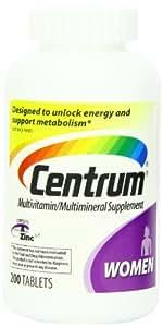 Centrum - Multivitamines pour femmes Under 50 200 Comprimés