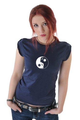 3 Elfen - T-Shirt Top - À Épaulettes - Yin Yang fée Marine