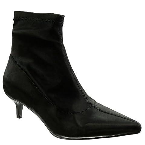 Angkorly - damen Schuhe Stiefeletten - Flexible Stiletto high heel 5 CM - Schwarz LL682 T 39