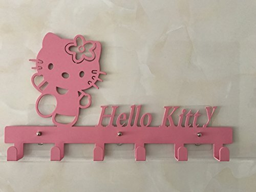yournelo niedliche Gürtler Figuren Tiere Kunst Wand montiert Dekorative Garderobe Haken Hello Kitty 3 Pink
