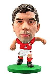 SoccerStarz SOC1049 - Figura de Equipo Nacional de Gales con Licencia Oficial de Joe Ledley en Kit de Inicio