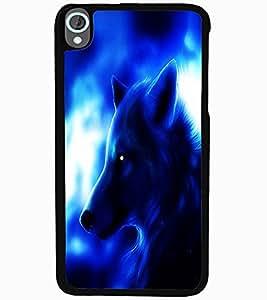 ColourCraft Fox Look Design Back Case Cover for HTC DESIRE 820