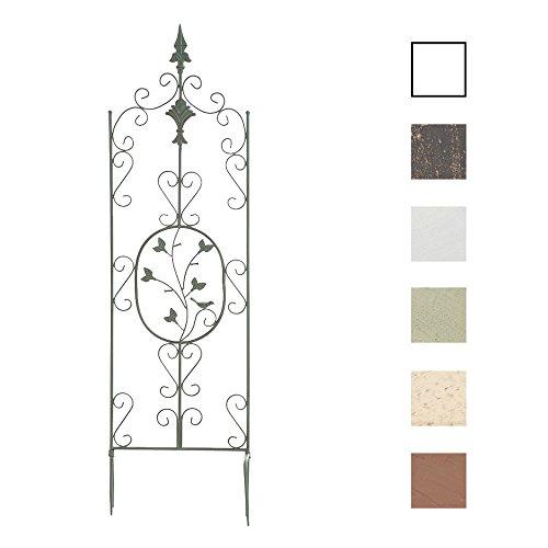 Clp supporto piante rampicanti burgus in acciaio - recinzione per rampicanti 120x35 cm i graticcio per fiori stile rustico - reticolato rose facilmente collocabile verde antico