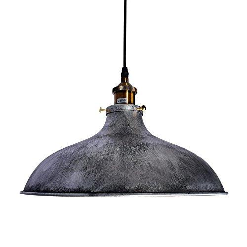 Lingkai lampada a sospensione industrial style singolo retrò d'epoca vintage con argento finitura argento