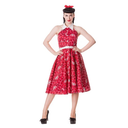 Hell Bunny dell'abito CALAMITY 1524 cm S DRESS red Rosso