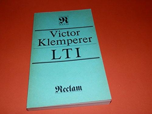 Reclams Universal-Bibliothek, Band 278: Victor Klemperer: LTI - Notizbuch eines Philologen