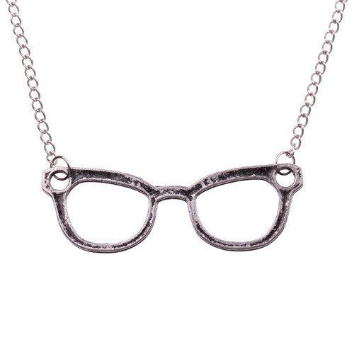 Nerd Halskette mit großer Brille - ca. 70cm -