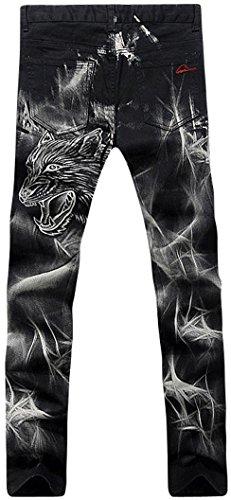 jeansian Herrenmode Casual Pants Jeans-Hose J229 MJB027_Black