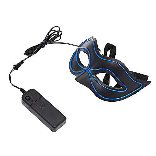 Yiqiane LED Augenmaske, Maskerade Maske Schwarze Augenmaske Maske Spielt Sexy Frauen Masken Kostüm Zusatz für Halloween, Karnevals Partei