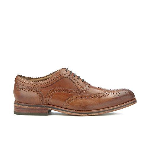 Hommes H Chaussures By Hudson Homme Keating Cuir Brogue Chaussures - Bronzer Bronzer