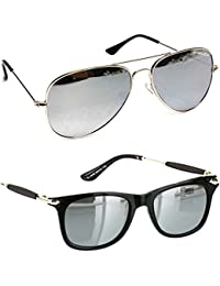 bbf127b94af Younky Combo Of Uv Protected Wayfarer Silver Mercury Sunglasses For Men  Women Boys   Girls (