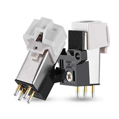 garsent Cartucho magnético de Repuesto Stylus con Aguja de Vinilo LP para Tocadiscos con Tocadiscos