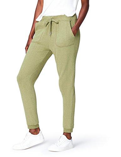 find. Jogginghose Damen mit schmalem Bein und großen Taschen, Grün (Khaki), 38 (Herstellergröße: Medium) -