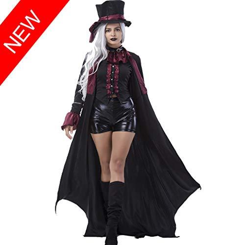 TSMDHH Costume da Vampiro per Donna Adulta Costumi di Halloween Coppia di Fantasmi Costumi Vestito di Halloween con Giochi di Ruolo, Abbigliamento Femminile