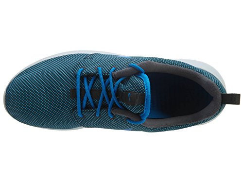 Nike Roshe One Premium, Chaussures de Running Entrainement Homme, Noir/Blanc, 41 EU Negro / Azul / Plateado (Anthracite / Photo Blue-Pr Pltnm)