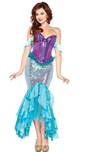 Gorgeous Halloween- Kleid mit Pailletten Meerjungfrau -Kostüm -Rollenspiel Fräulein Mermaid (Kostüme Fraulein)