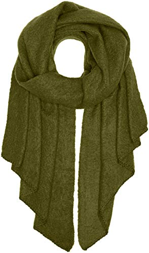 PIECES Damen Schal PCPYRON Long Scarf NOOS, Grün Winter Moss, One Size