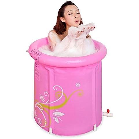 RRJH Rosa stampate in plastica pieghevole vasca di balneazione canna