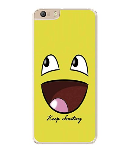 PrintVisa Designer Back Case Cover for Micromax Canvas Knight 2 E471 (Cartoon Fun Smiley face Icon Cute Abstract Illustration)  available at amazon for Rs.296
