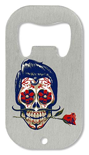 OpenWorld Candy Skull Mexican Style Skull Bones Collection Roses Are Red Flaschenöffner