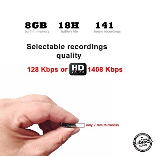 Preisvergleich Produktbild super kleines Modul & Ultra klarer HQ - Diskretes Überwachungs- und Spionagegerät - 8GB / 141 Stunden Kapazität – 18 Stunden Batterielebensdauer