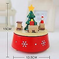 Jacobssen Caja de Mãºsica Romã¡Ntica rotativa de Navidad Decoraciã³n del hogar Caja de Mãºsica Rotatoria de Madera Mezclado (Tren)