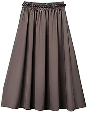 vestido de poliéster A-línea de la cintura elástica Tamaño falda , 2