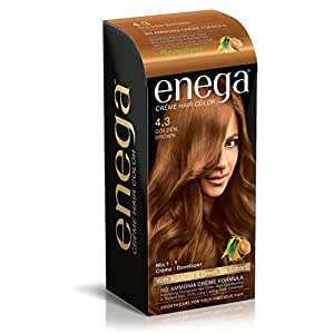 enega Cream Hair Colour, Golden Brown (100 ml)