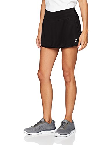 Wilson gonna da tennis, w team 12.5 skirt, poliestere/spandex, nero, taglia: s, wra766202