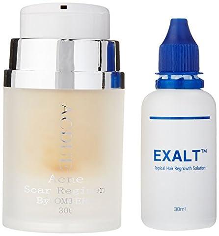 Omiera Acdue Scar Cream and Exalt Hair Growth Serum For