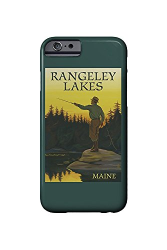 Rangeley Lakes, Maine - Fly Fishing Scene (iPhone 6 Cell Phone Case, Slim Barely There)