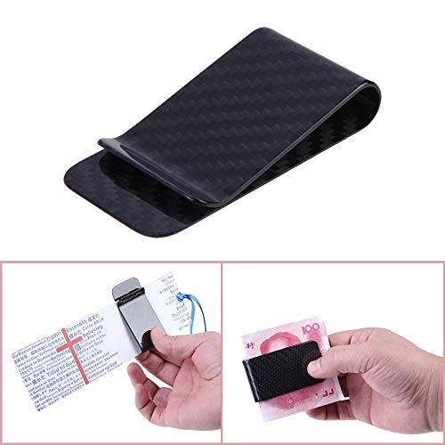 Weimilon Neue Poliert Und Matt Für Optionen Real Carbon Faser Unikat Geld Clip Business Kreditkarte Cash Brieftasche (Color : Colour, Size : Size) - Brieftaschen, Geld Clip Brieftasche