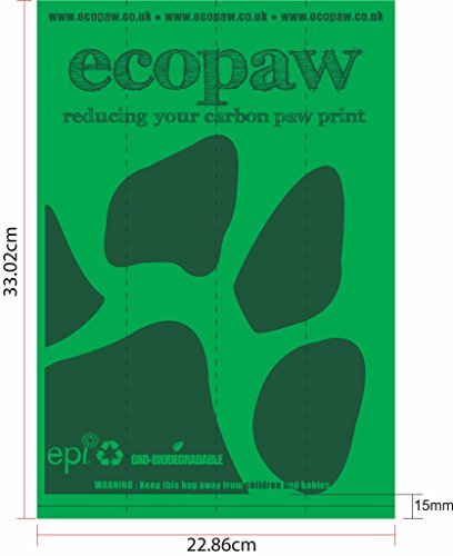 ecopaw Dog Poo Bags   Biodegradable   300 Large Poop Bags   Scented   20 Rolls of Strong Heavy Duty Bags   FREE Straw… 8