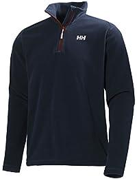 Helly Hansen Daybreaker 1/2 Zip Fleece - Sudadera polar para hombre, color azul, talla M