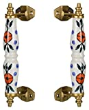 #8: Mukesh 18 cm Brass Handicraft Door Handle (Multicolour, 2-Piece, KH053_1)