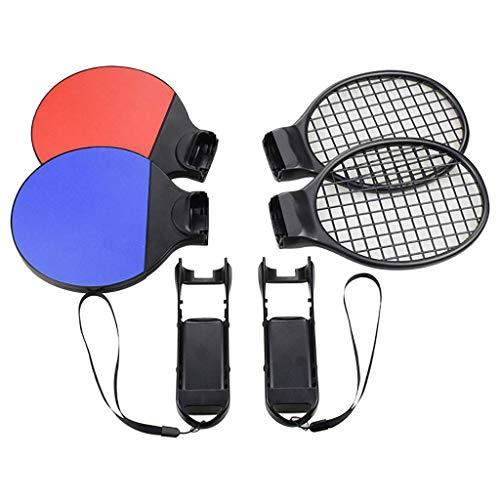 Skywin Ping Pong Paddel- und Tennisschläger-Set für N-Switch JoyCons - Controller-Halterung kompatibel mit Nintendo Switch Joy Con Controllern