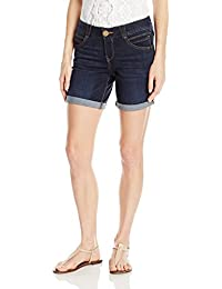 "Democracy Women's 7(9 Uncuffed)/20.5"" ""Ab"" Solution Indigo Short"