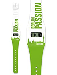 Digital paperwatch con diseño de Skyline de Berlín – ciudad Reloj de ...