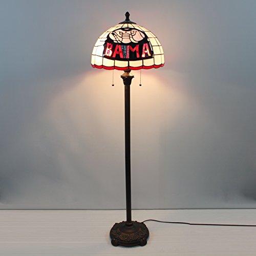 16-Zoll-NCAA Alabama Crimson Tide Alphabet eine Stained Glass Stehlampe