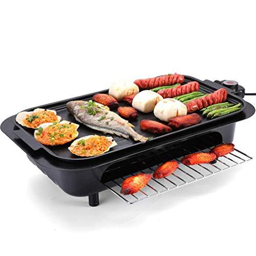 Große Antihaft-Tischplatte Einstellbar Temperatur Ideal zum Braten, Grillen und Kochen, Antihaftmaterial 2000W Teppanyaki Electric Grill Plate