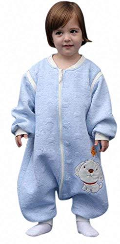 baby Schläfsack winter kinderSchlafsack,Hund mit Füßen Baumwolle Junge Mädchen unisex ganzjahres Schlafanzug .Neugeborene pyjama/overall/Strampler (C, 80cm /0-16 Monat)